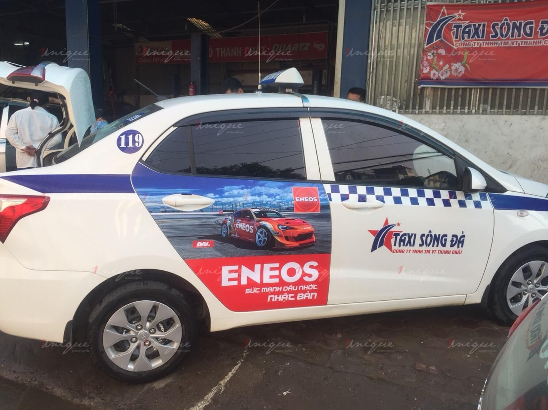 quảng cáo taxi cho ENEOS