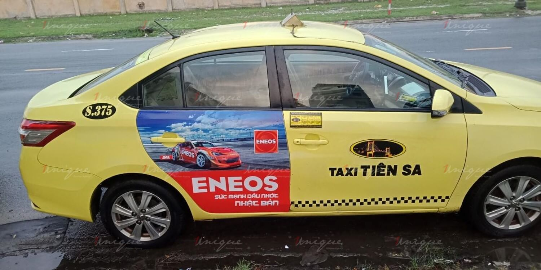 quảng cáo trên taxi tại Phú Yên