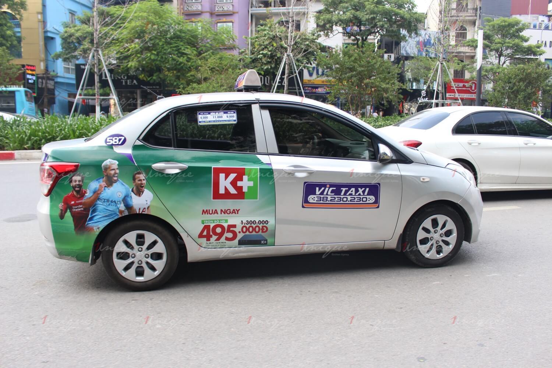 quảng cáo trên hãng taxi lớn hay nhỏ