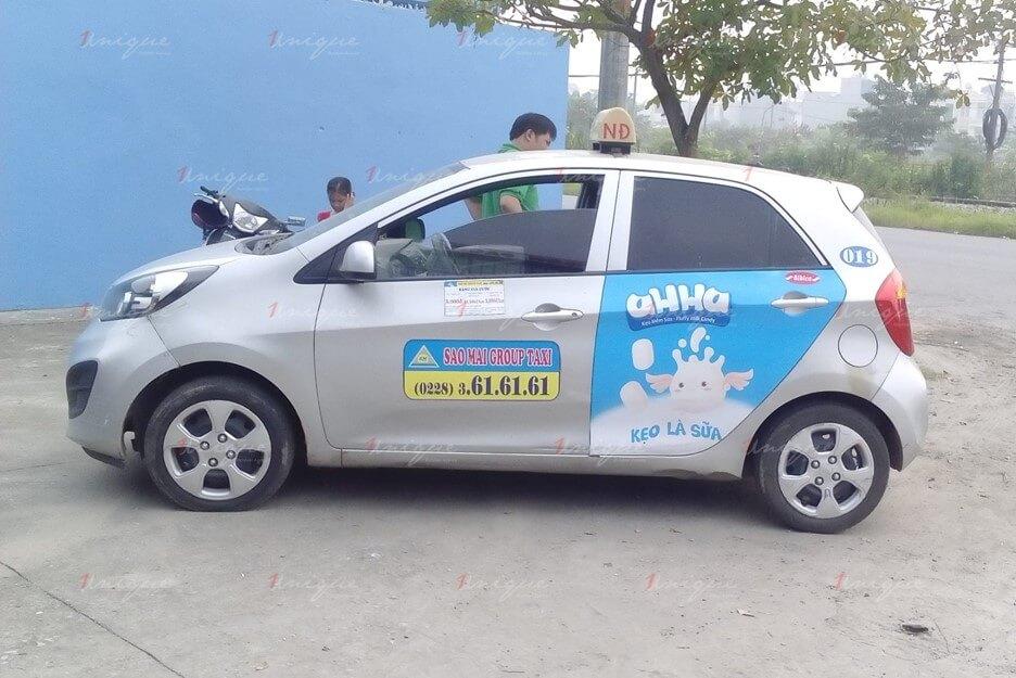 quảng cáo trên liên minh taxi việt