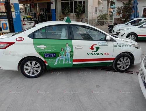 Thời trang Catsa quảng cáo trên taxi cho bộ sưu tập Retro Vibes