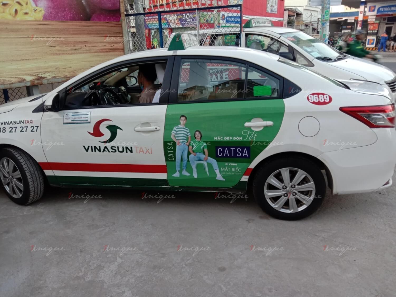 quảng cáo trên taxi Kiên Giang