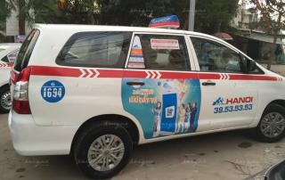 quảng cáo taxi cho dịp Tết