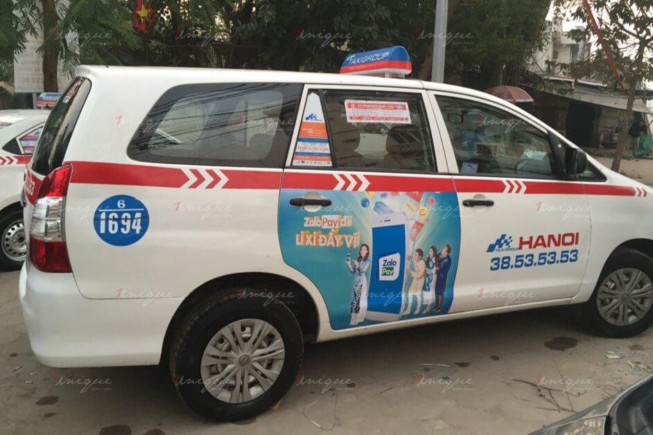 Quảng cáo trên taxi tại Bắc Ninh, tại sao không thử?
