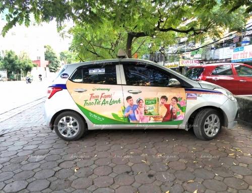 Tất tần tật các hãng taxi quảng cáo tại Hà Nội