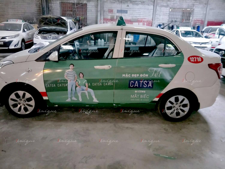 Xu hướng quảng cáo trên xe taxi trong năm 2020