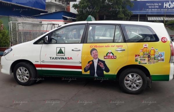 ưu điểm quảng cáo trên taxi