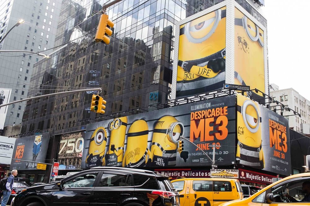 chiến dịch quảng cáo ngoài trời sáng tạo của Despicable Me 3