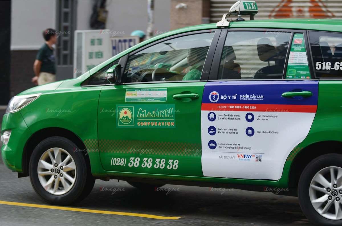 Quảng cáo trên xe taxi nửa cuối năm 2020