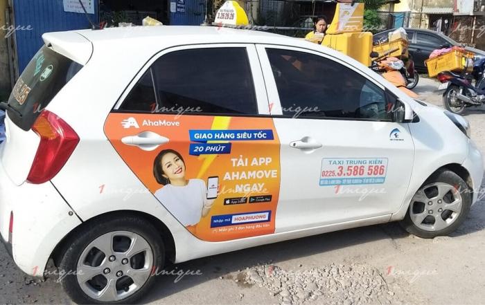 AhaMove triển khai chiến dịch quảng cáo trên taxi tại Hải Phòng