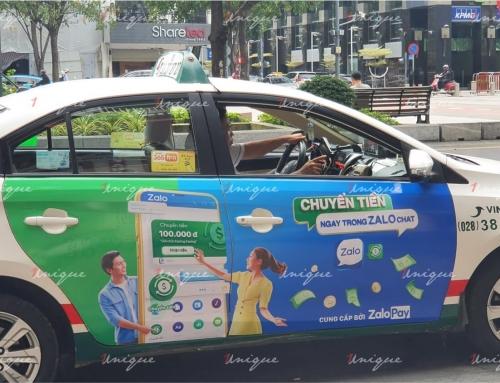 Chiến dịch quảng cáo trên taxi tại Hồ Chí Minh của ZaloPay
