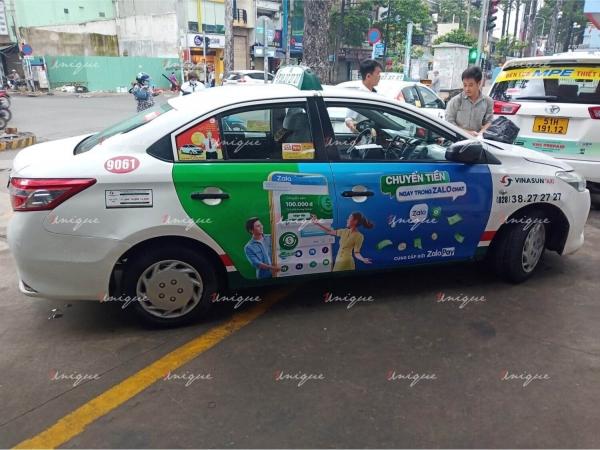 Chiến dịch quảng cáo trên taxi tại Hồ Chí Minh cho ZaloPay