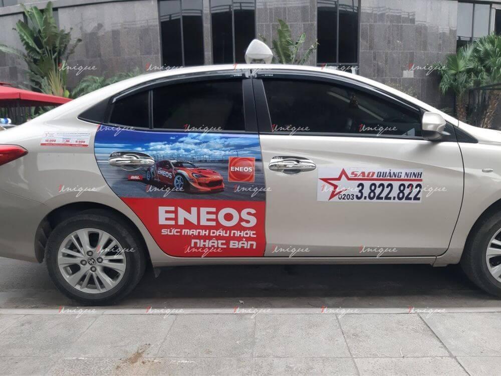 Eneos phủ sóng thương hiệu với chiến dịch quảng cáo trên taxi