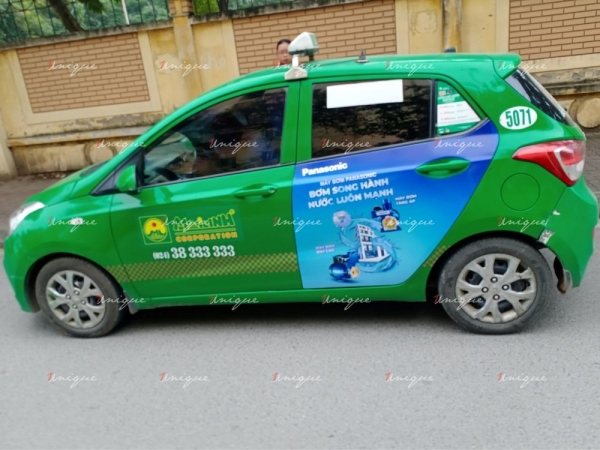 Dự án quảng cáo trên taxi tại nhiều tỉnh thành của Panasonic
