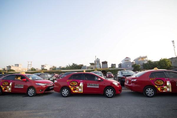 quảng cáo taxi Hoa Phượng Đỏ