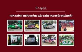 các hình thức quảng cáo trên xe taxi