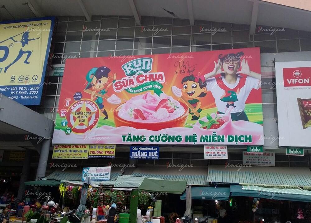 quảng cáo tại chợ